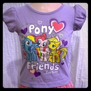 My Little Pony gently used girls top